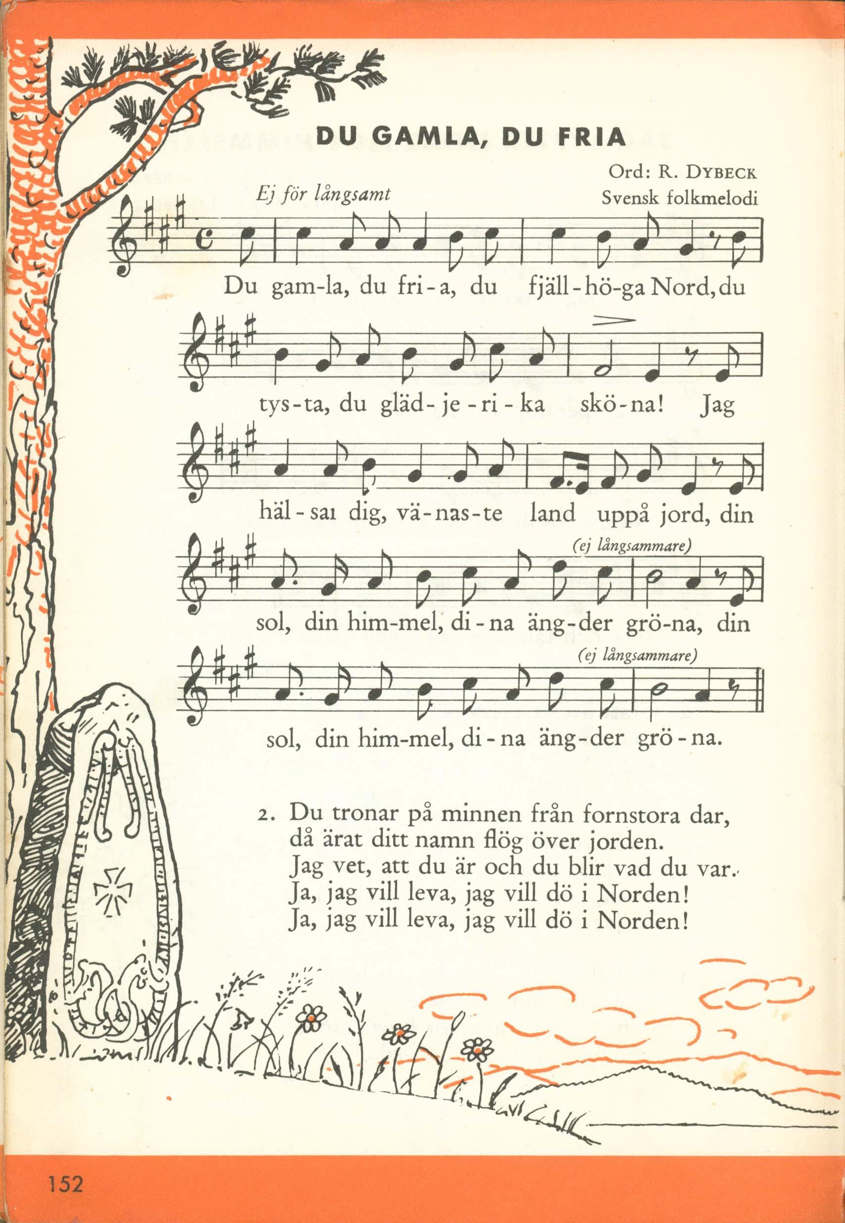 Dal Libro Nu ska vi sjunga - Du Gamla, du fria