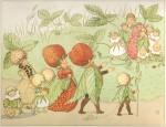"""Illustrazione di Elsa Beskow dal libro """"Lasse liten i trädgården"""""""