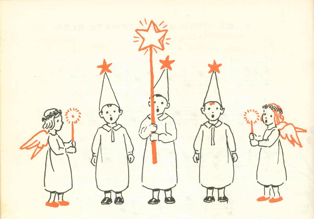 """Illustrazione dal libro """"Nu ska vi sjunga"""" - Julafton"""