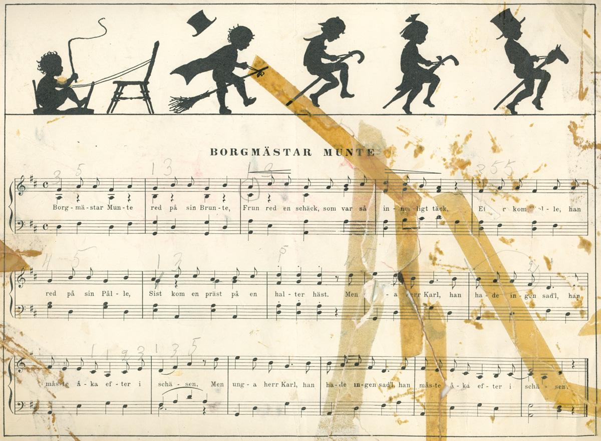 Borgmästar Munte av Alice Tegnér - text och partitur