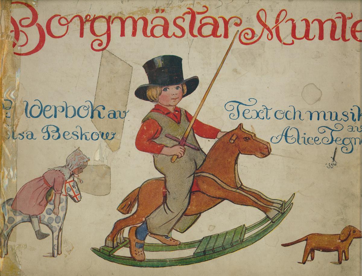 """Illustrazione di Elsa Beskow dal libro di canzoni di Ailce Tegnér  """"Borgmästar Munte"""""""