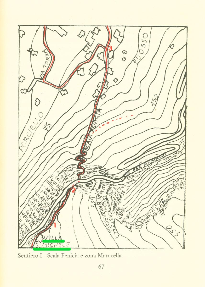 Sentiero Scala Fenicia con partenza da Villa San Michele