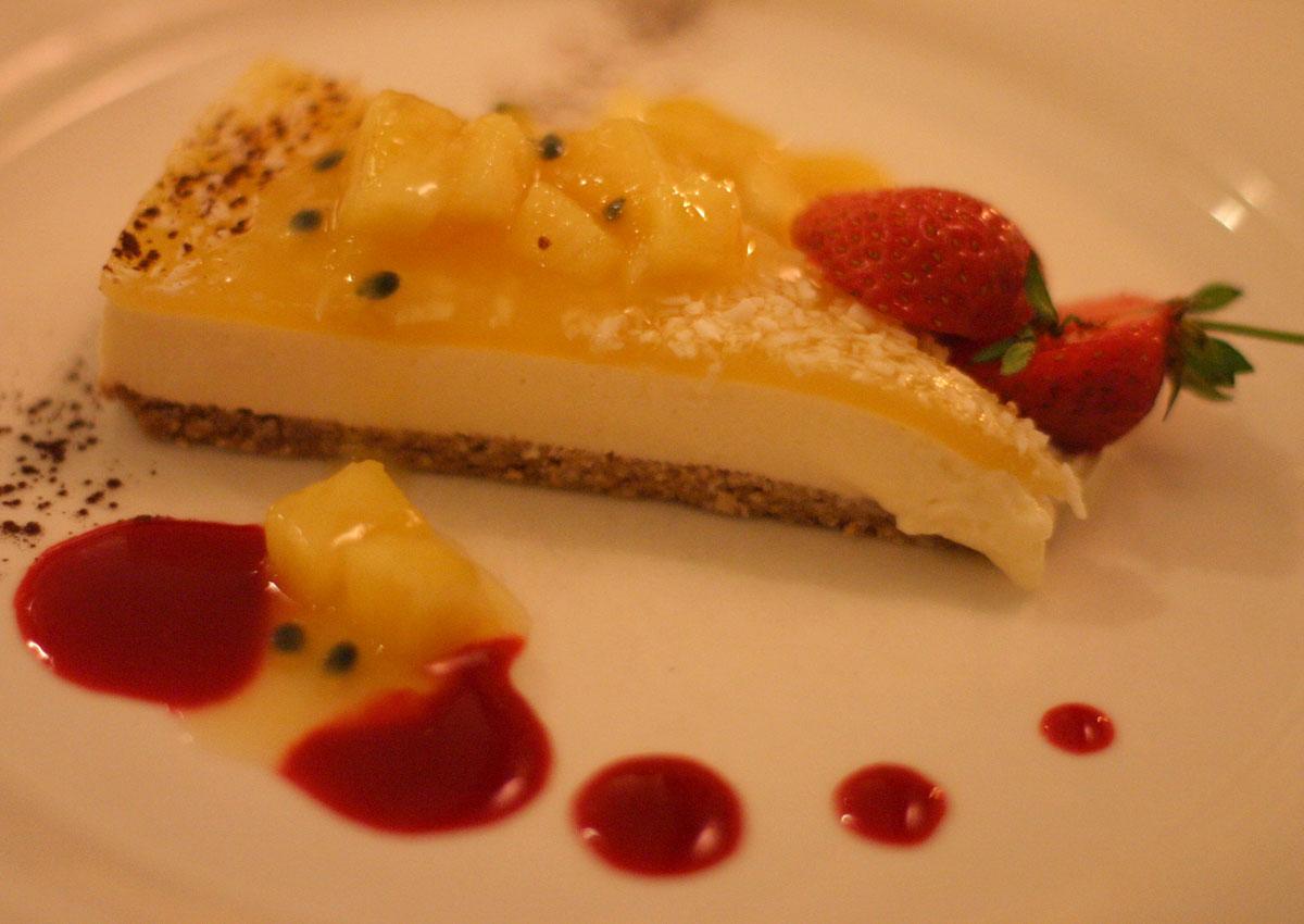 Un'invitante torta di un ristorante in Svezia