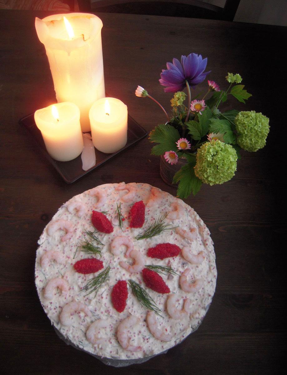 Cheesecake di gamberetti