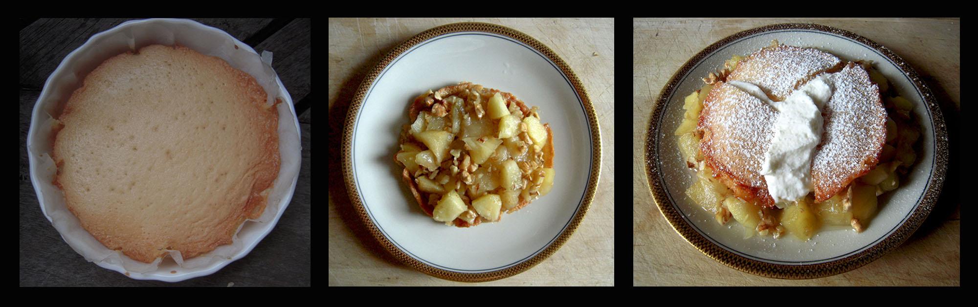 Äppeltårta med mandelmassa - 3 passaggi