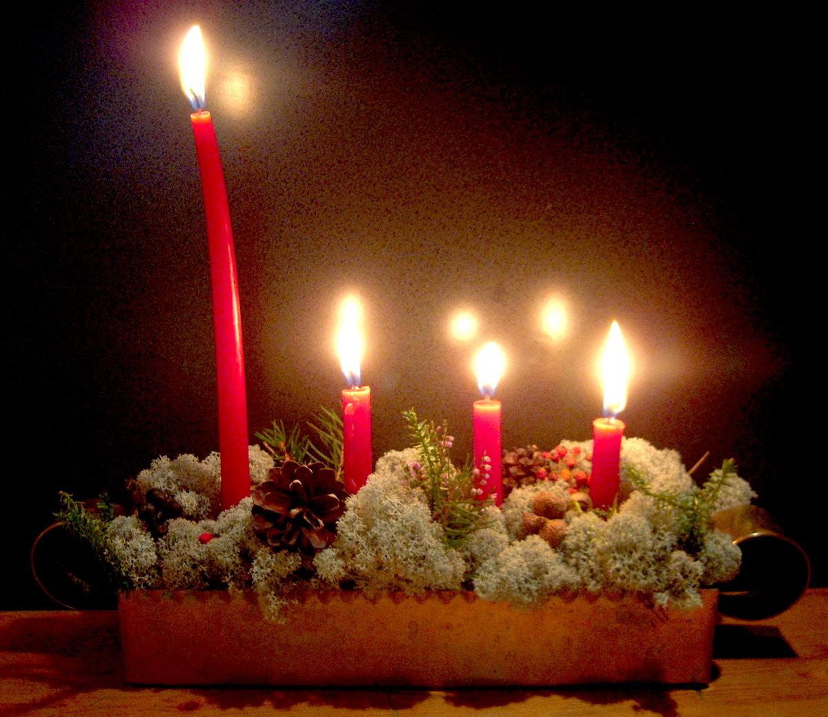 Ljusstake fjärde advent
