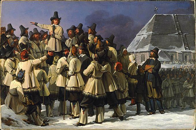Johan Gustaf Sandberg (1782–1854) - Gustav Vasa talar till dalkarlarna i Mora