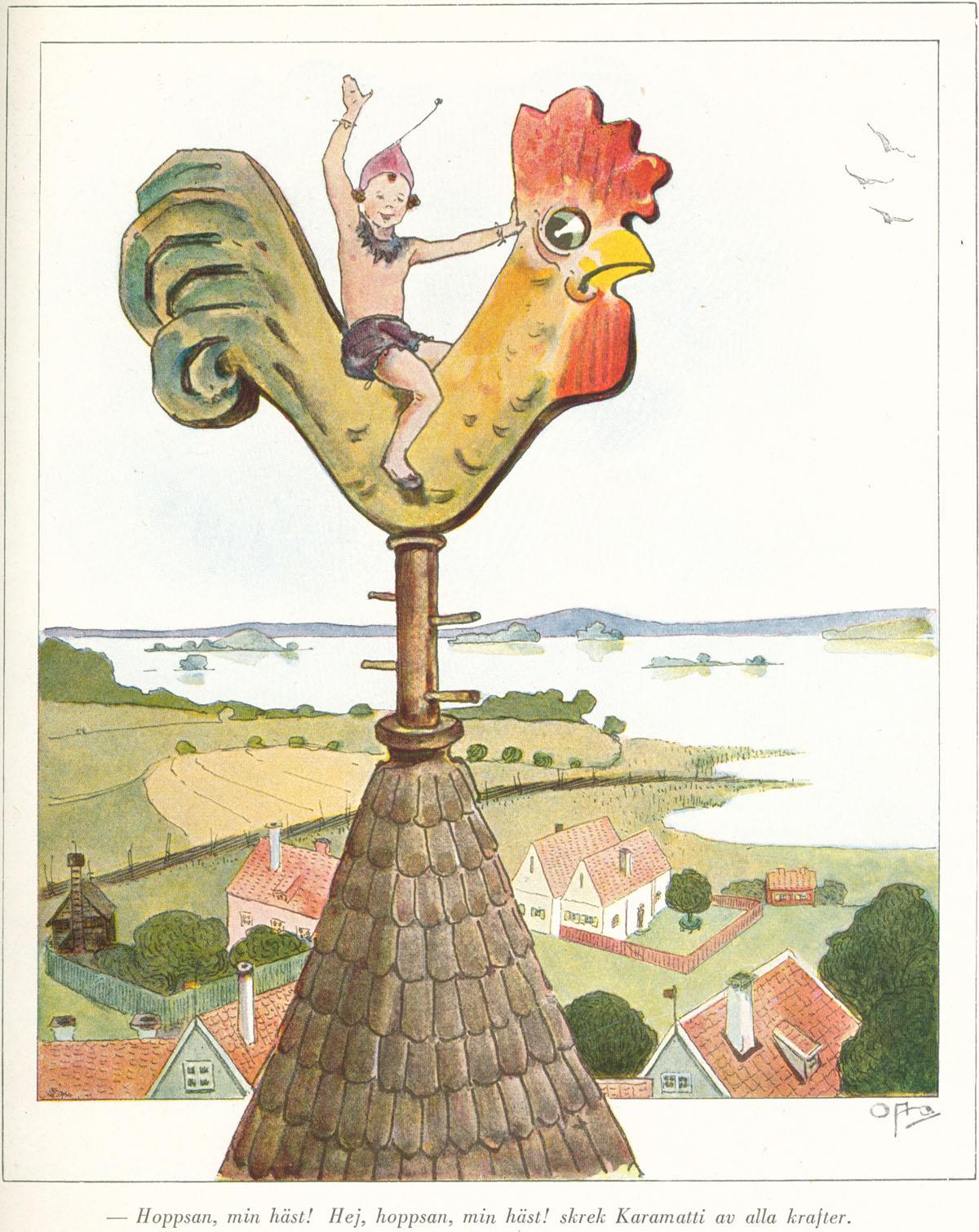Ottilia Adelborg - Kyrktuppen dal libro di  Zacharias Topelius - Läsning för barn