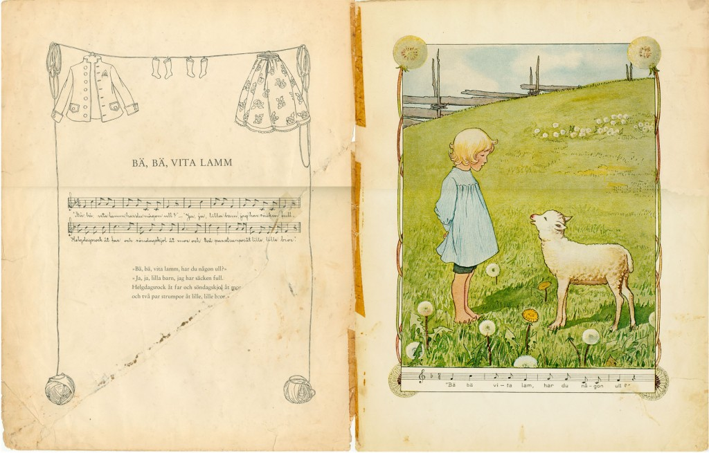 Alice Tegnér och Elsa Beskow - Bä bä vita lamm