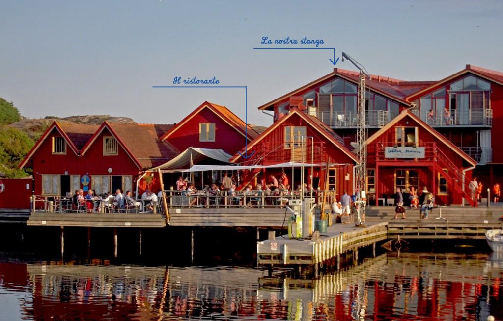 Il ristorante e la nostra stanza a Björholmens Marina