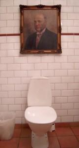 Villa Sjötorp - Il bagno con l'altero signore