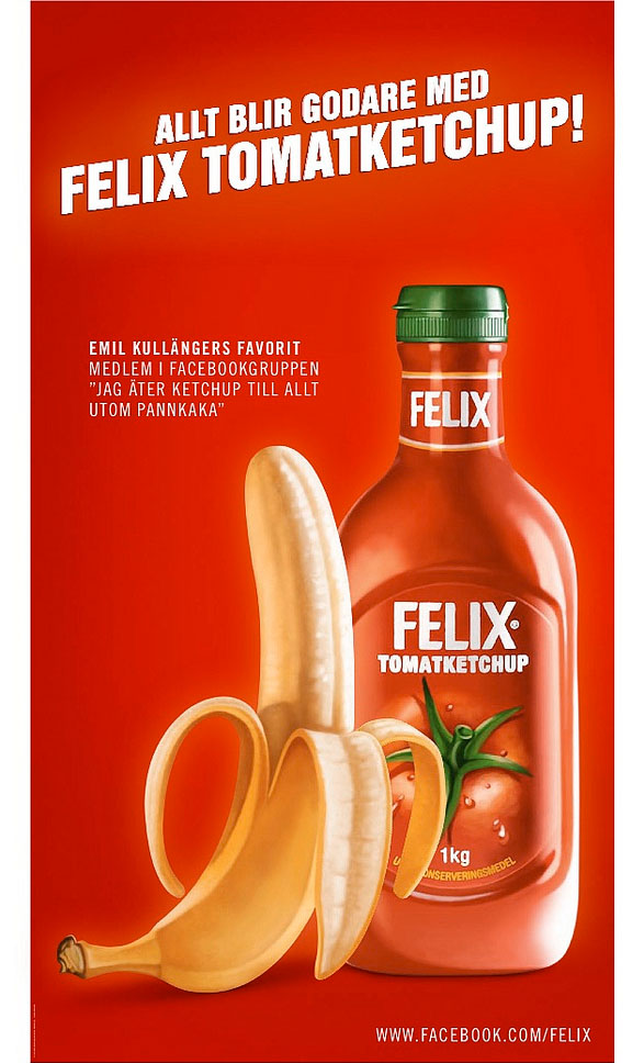 Bananbröd - reklam tomatketchup