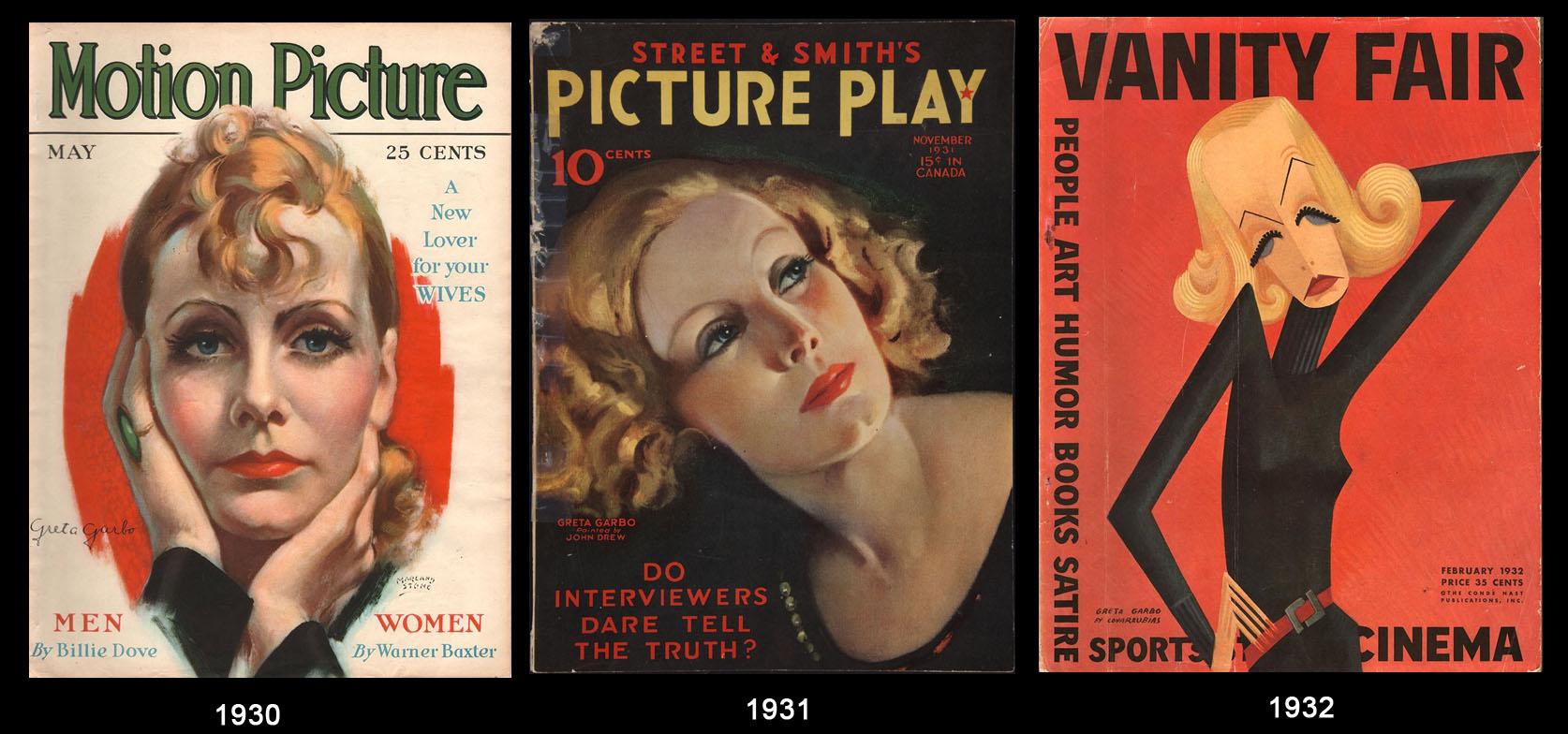 Greta Garbo nelle copertine dei giornali