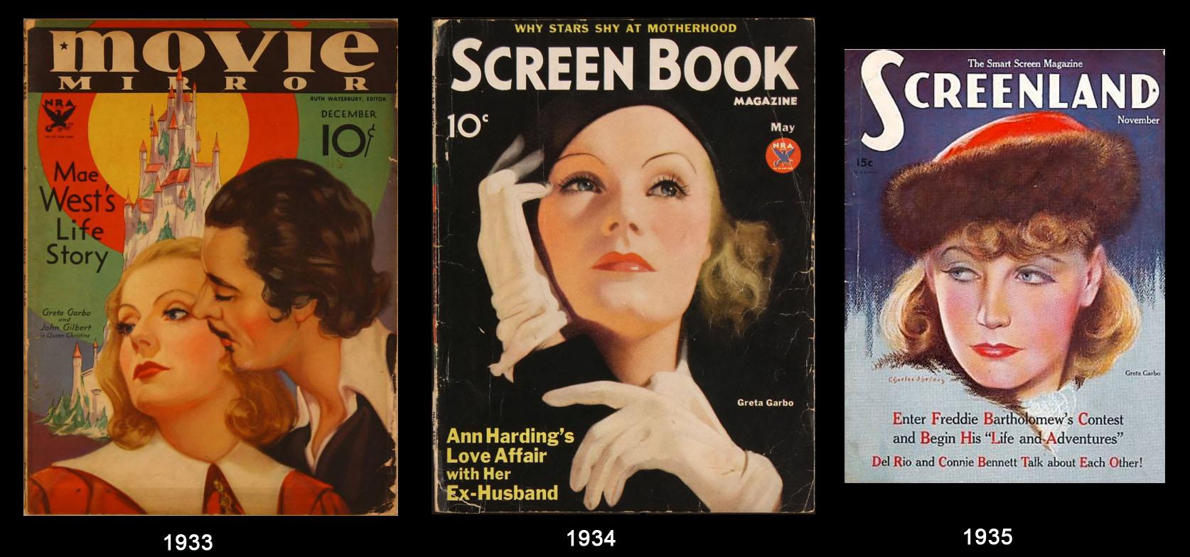 Greta Garbo nei giornali dell'epoca