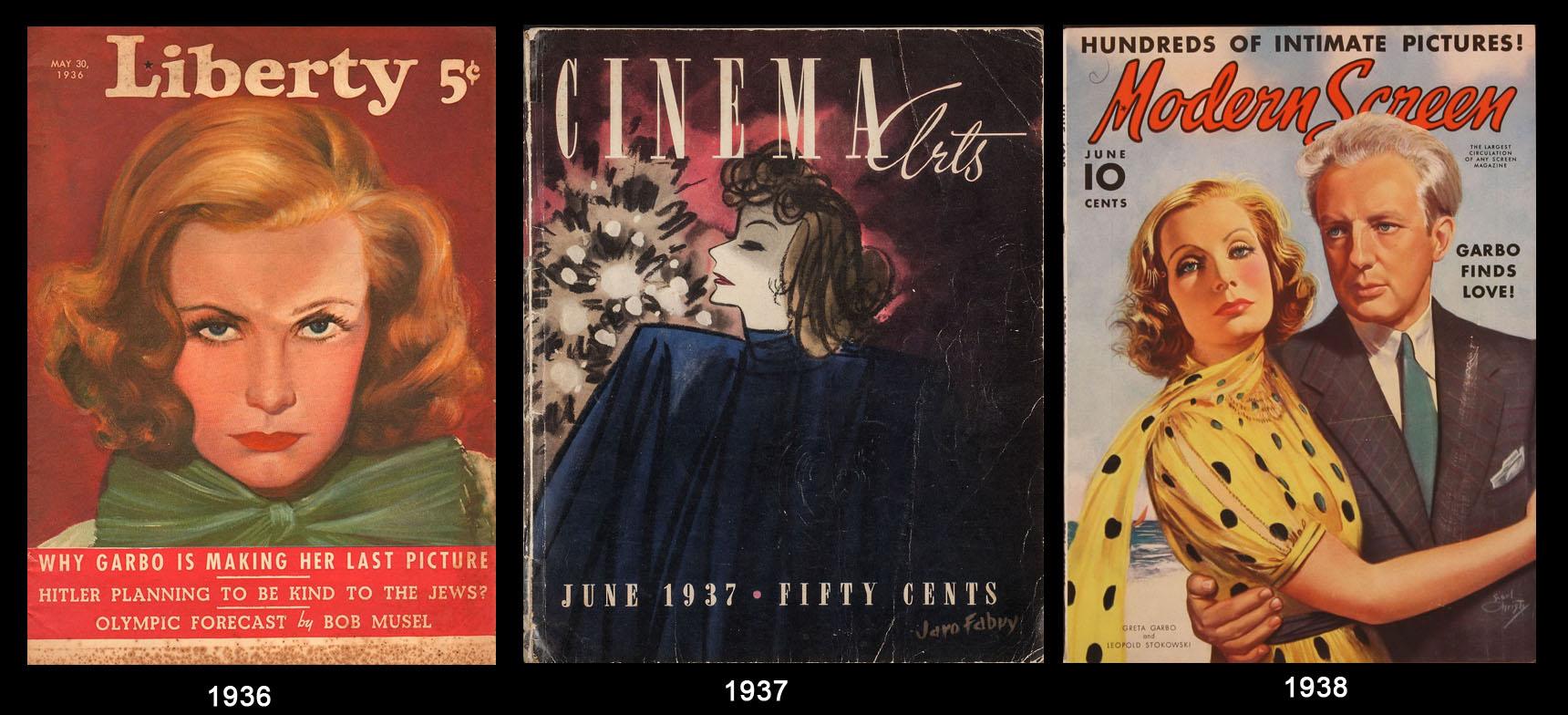 Greta Garbo nei giornali del tempo