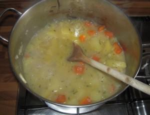 Crema di patate e porri - preparazione 1