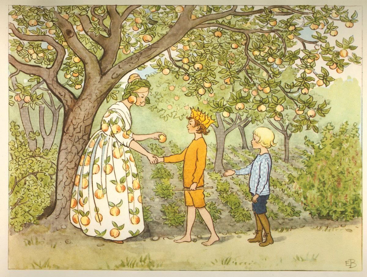 Elsa Beskow: Lasse-liten i trädgården - Fru Astrakan