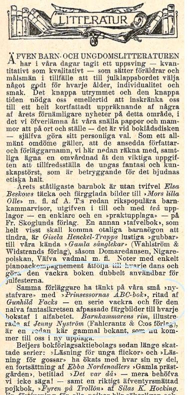 Gunhild Faks - Idun nr. 51 - 1903