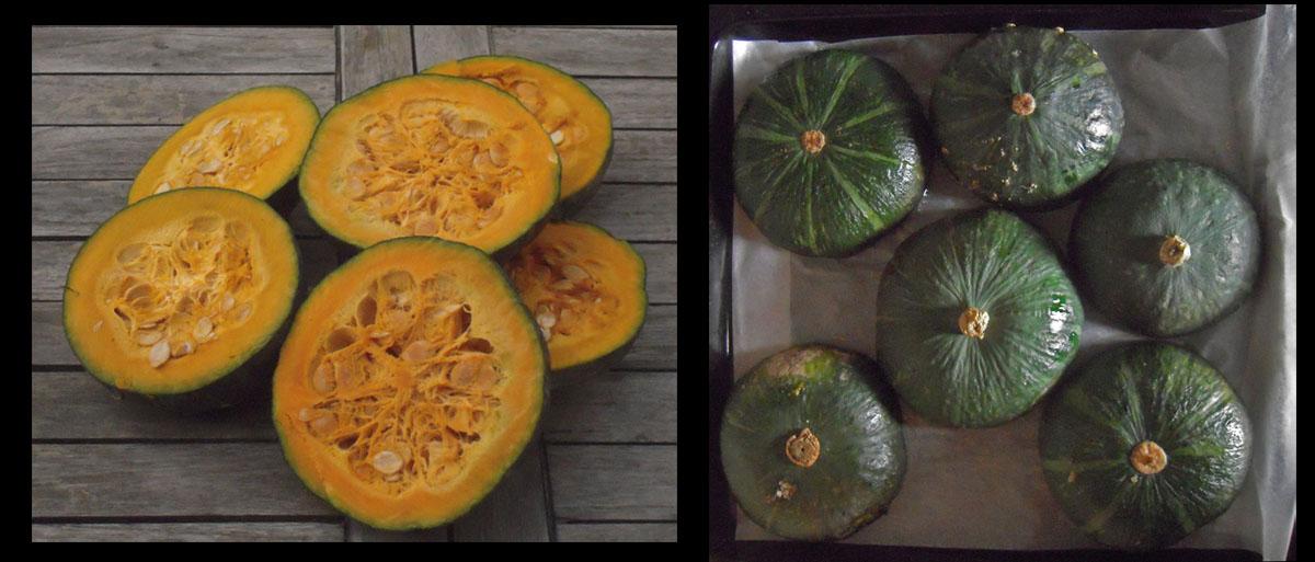 Pumpakaka - Zucche tagliate ed in cottura
