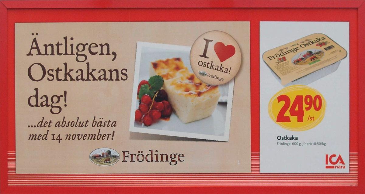 Frödinge ostkaka - ICA affisch
