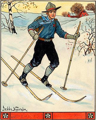 Jenny Nyström - Poike på skidor