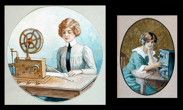 Jenny Nyström - Teknologi - två vykort