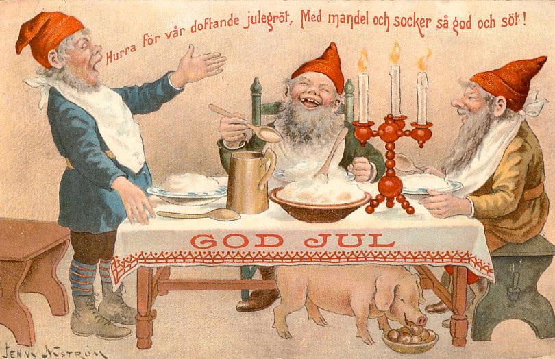 Jenny Nyström - Tomtar önskar god jul med julgröt