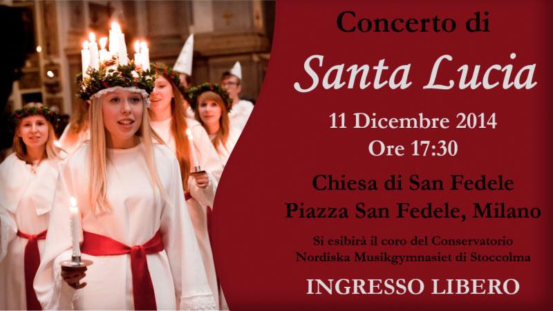 Concerto di Santa Lucia a Milano 2014