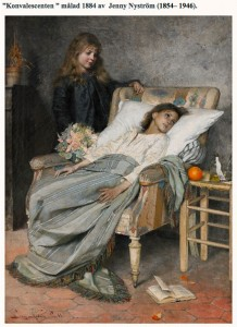 jenny nyström - Konvalescenten - oljemålning