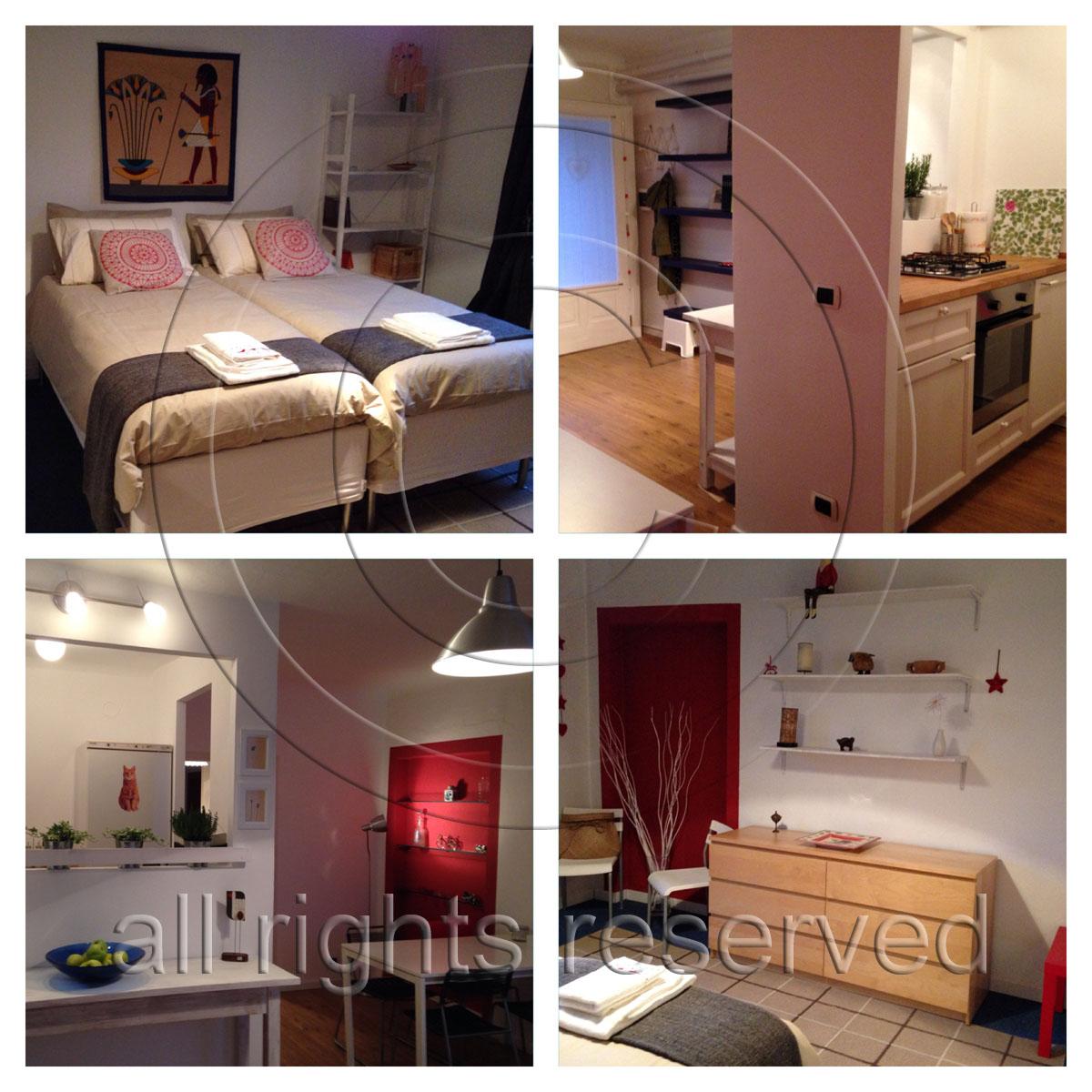 Lägenhet uthyres - fyra bilder utan notan