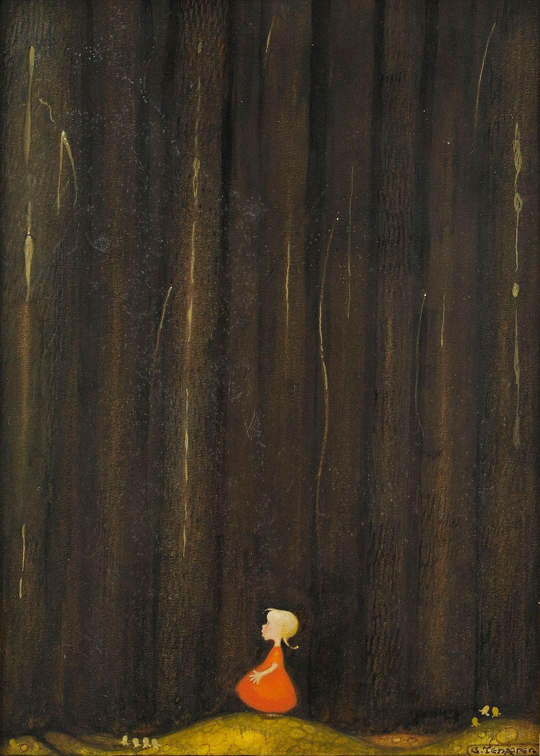 Gustaf Adolf Tenggren - Flicka i skogen
