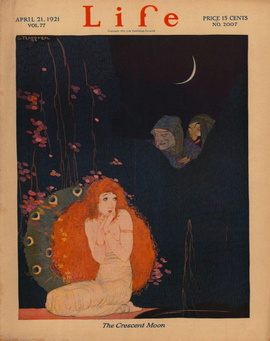 Gustaf Adolf Tenggren - Life 1021 - The crescent moon