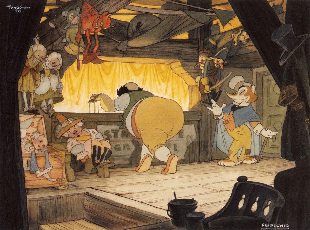 Gustaf Adolf Tenggren - Pinocchio 3 - signed