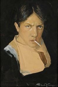 Gustaf Adolf Tenggren - Självporträtt del 1914 circa