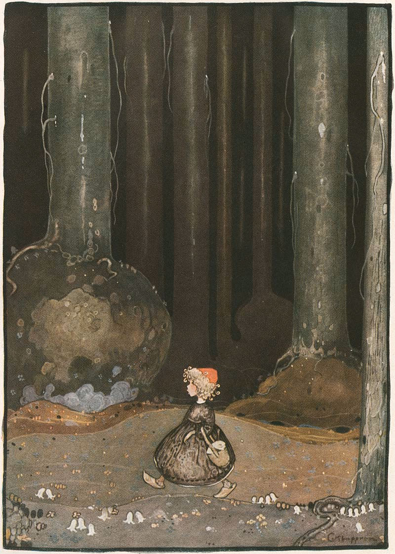 Gustaf Adolf Tenggren - the Grimm's Fairy tales - Rödluvan
