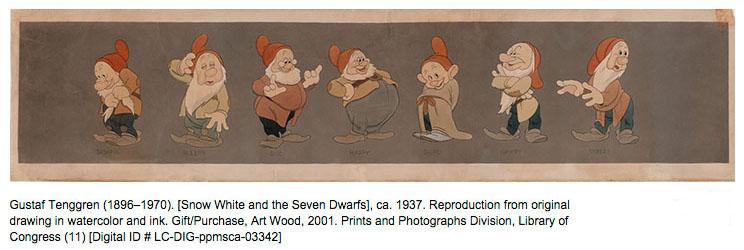 Gustaf Adolf Tenggren - The seven Dwarfs