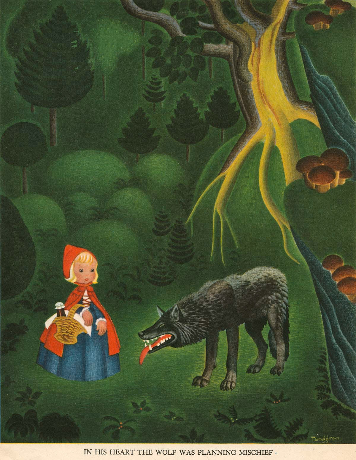 Gustaf Adolf Tenggren - The Tenggren tell it again book - Rödluvan