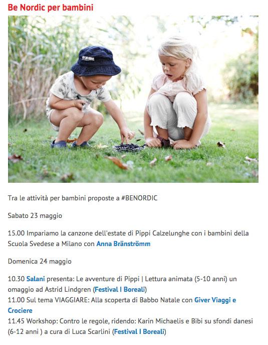 Programma per bambini