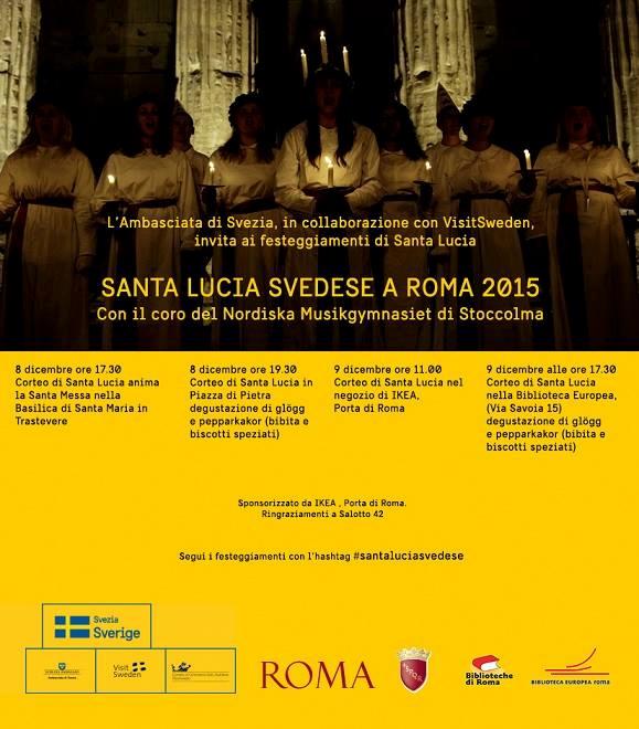 Santa Lucia 2015 a Roma