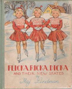 Maj Lindman - Flicka Ricka Dicka and their new skates
