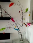 Ramoscelli decorati per Pasqua
