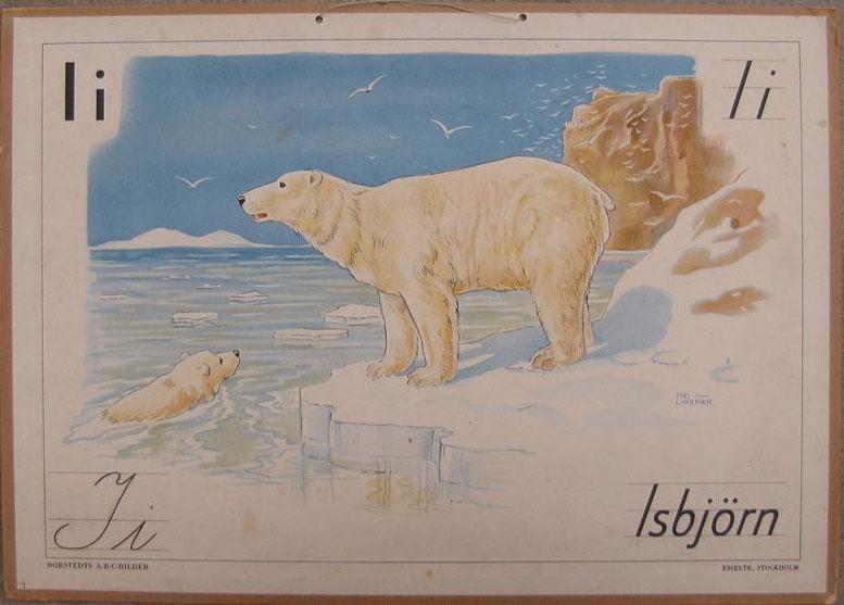 Maj Lindman - Skolplansh - Isbjörn