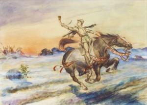 Caleb Althin (1866-1919) - Scena dalla storia Ljungby horn och pipa