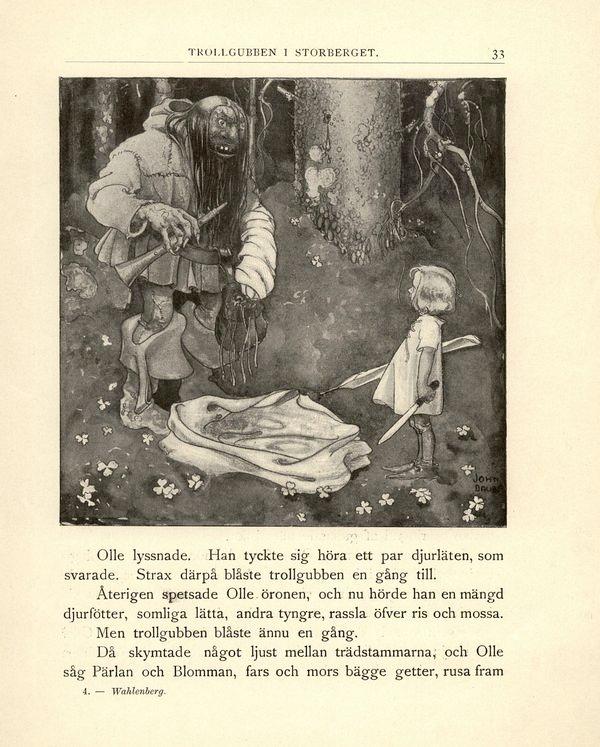 John Bauer - Illustrazione per Länge länge sedan Sagor - Anna Wahlenberg - 1903