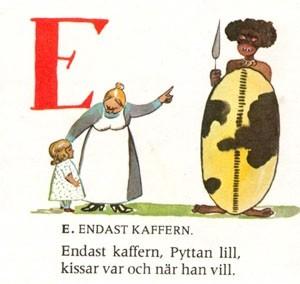 Pyttans A-B och C-D-lära -1896 - Endast Kaffern