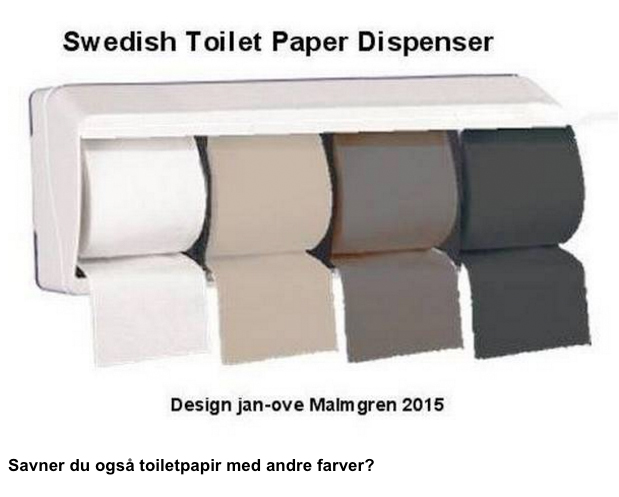 Swedish Toilet Paper Dispenser