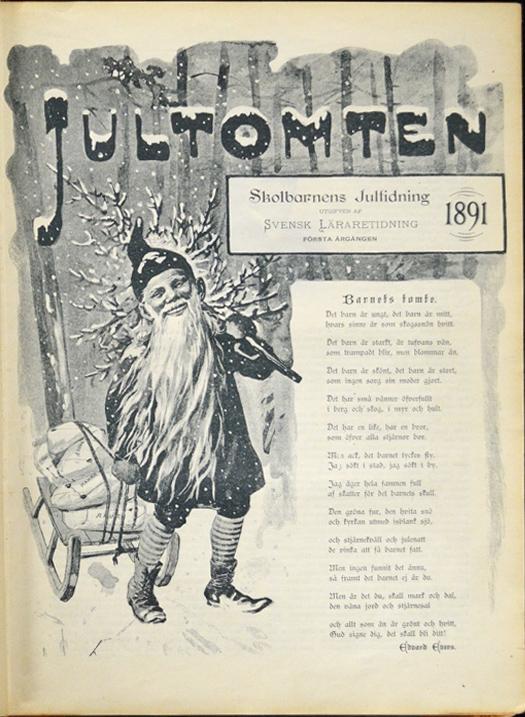 Jultomten - Jenny Nyström - första numret 1891 - Il primo numero del 1891