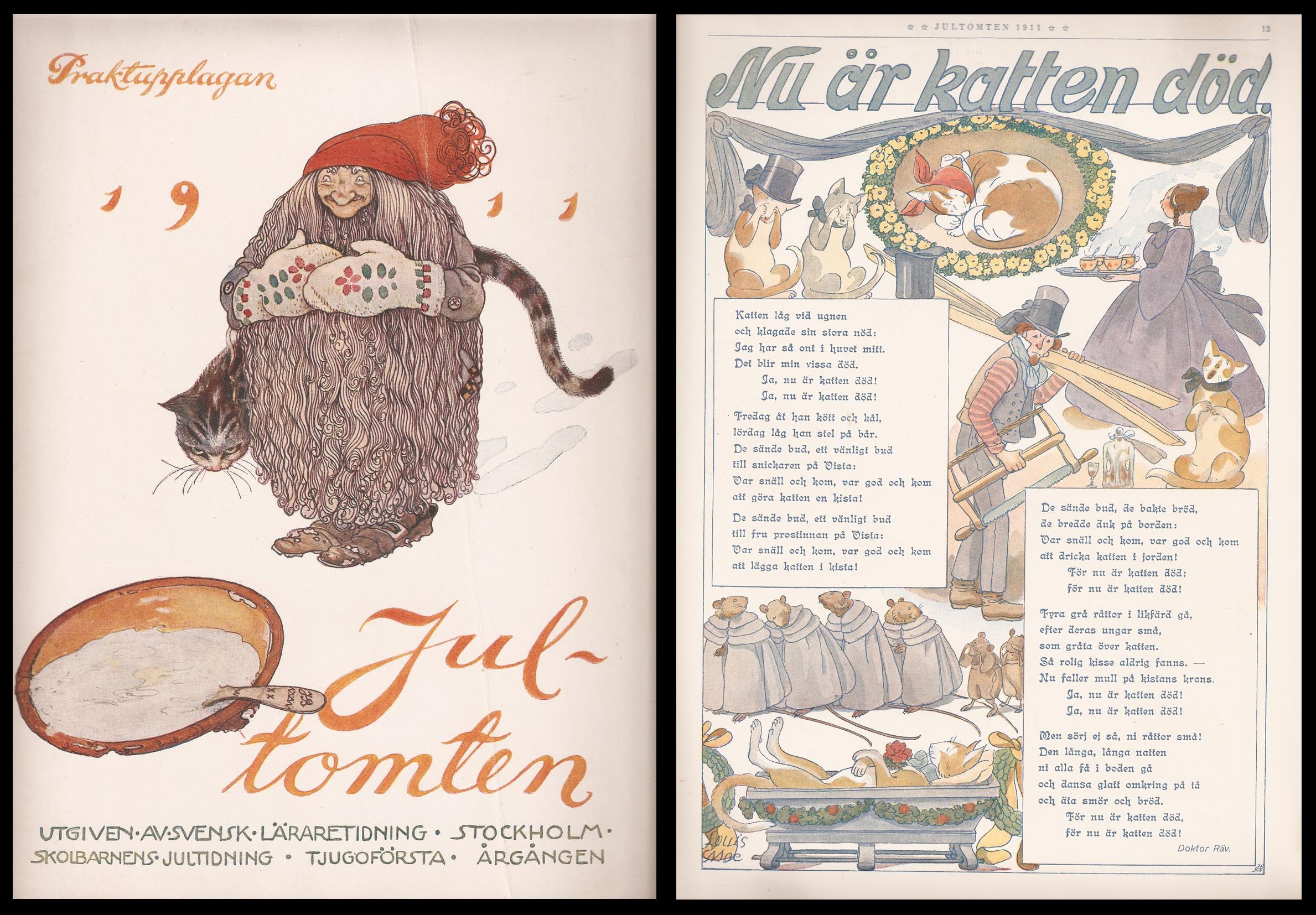 Jultomten - John Bauer och Louis Moe - 1911