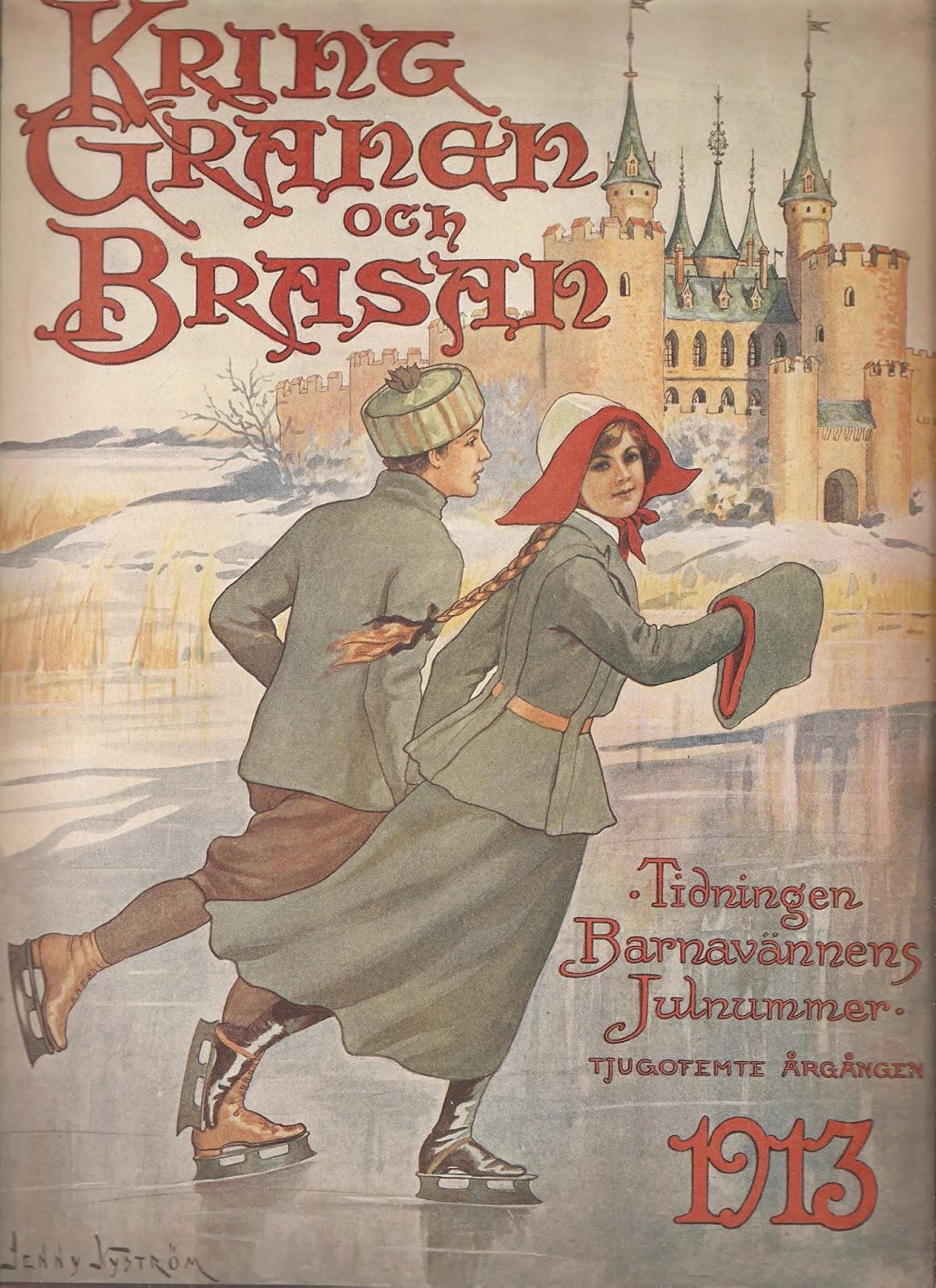 Kring granen och brasan - Jenny Nyström - 1913