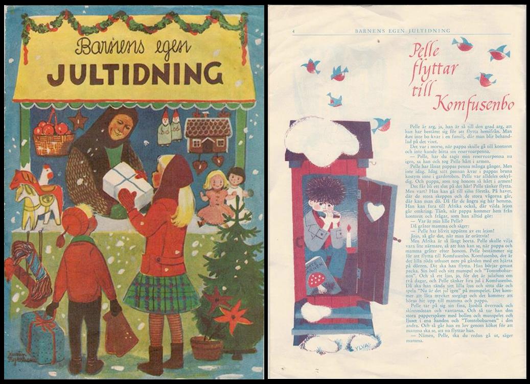 Barnens egen Jultidning - con racconto di Astrid Lindgren - 1959